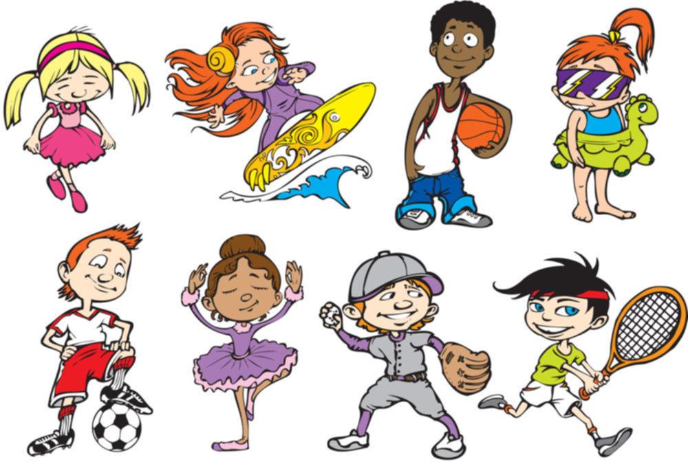Картинки спортивные прикольные детские